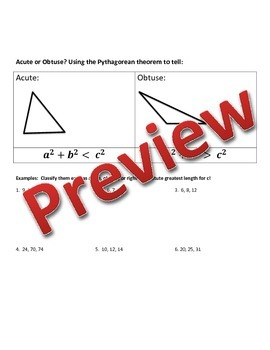 Geometry Special Right Triangles Bundle PowerPoint and Guided Notes