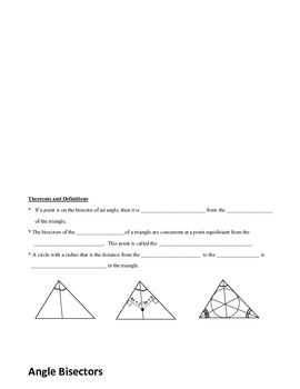 Geometry: Special Triangle Segments Flip Book (Foldable)