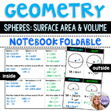 Geometry - Spheres: Surface Area and Volume (Including Hemispheres) Foldable