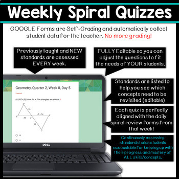 Geometry Spiral Review DIGITAL | Google Classroom | Distance Learning