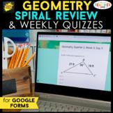 Geometry Spiral Review DIGITAL   Google Classroom   Distan