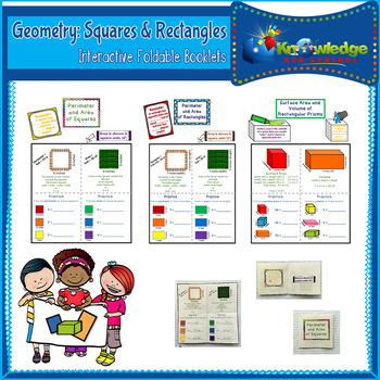 Geometry: Squares & Rectangles Interactive Foldable Booklets
