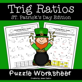 Geometry St. Patrick's Day Activity - Trig Ratios