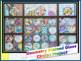 "Geometry ""Stained Glass"" Circle Properties Project"