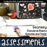 Geometry Math Review Standards Based Assessments & Item Analysis