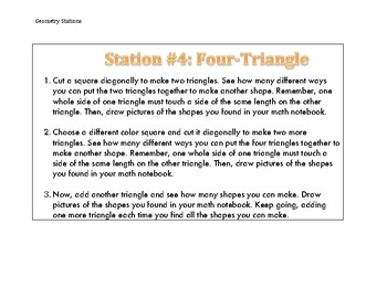 Geometry Stations: 2D Shapes