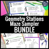 Geometry Stations Maze Activity Bundle