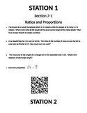 Geometry Stations, QR Code Optional, Similarity,Ratio,Proportion in Rt Triangles