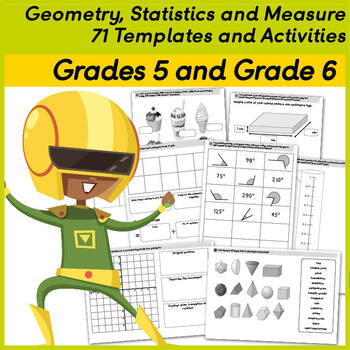 Geometry Statistics and Measure 76 Templates and Activities Grades 5 and 6