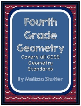 Geometry Student Activity Book for all Geometry Standards- Fourth Grade