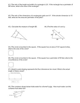 Geometry Study Guide ~ 7th Grade Math