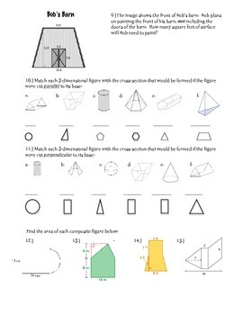 Geometry Study Guide ~ 7th Grade Math
