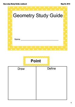 Geometry Study Guide CCSS 4.G.1, 4.G.2, and 4.G.3