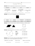 Geometry Study Guide (SOL 5.12 and 5.13)