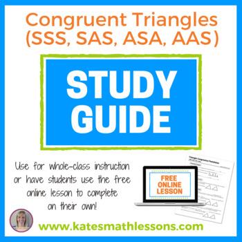 Congruent Triangles (SSS, SAS, ASA, AAS) Study Guide