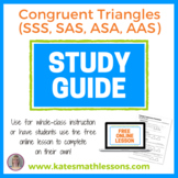Congruent Triangles (SSS, SAS, ASA, AAS) Study Guide