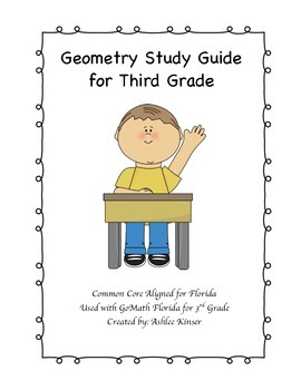 Geometry Study Guide for Third Grade - Common Core Aligned