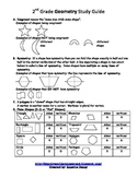 Geometry Study Guide_Common Core Standards_2nd Grade