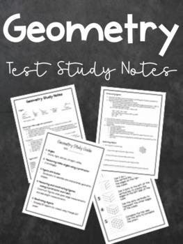 Geometry Study Notes - Grade 6