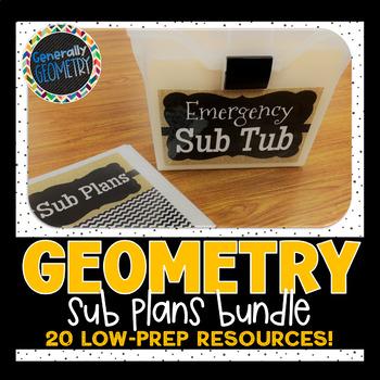 Geometry Sub Plans: 20 Low to No-Prep Activities