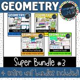 Geometry Super Bundle #3 Congruency, Similarity, Logic & Proof, Transformations