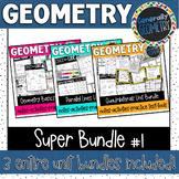 Geometry Super Bundle #1! Basics, Parallel Lines, Polygons, Quadrilaterals