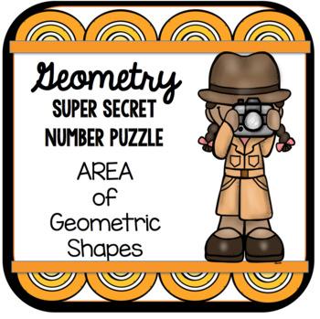 Geometry Super Secret Number Puzzle Area of Geometric Shapes