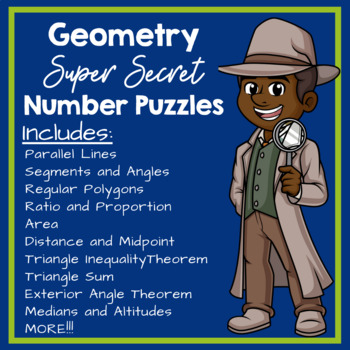 Geometry Super Secret Number Puzzle Bundle