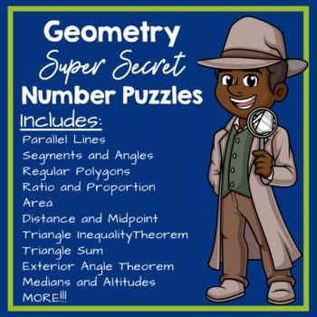 Geometry Super Secret Number Puzzle Bundle