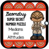 Geometry Super Secret Number Puzzle Medians and Altitudes