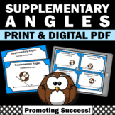 Supplementary Angles Task Cards