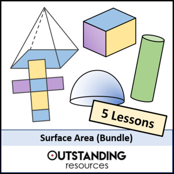 Geometry: Surface Area Bundle (4 Lessons)