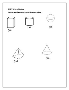 Geometry - Surface Area & Volume