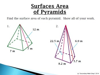 Surface Area & Volume - Unit 11:  Bellwork / Station Cards
