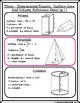 Surface Area & Volume of 3-Dimensional Figures Graphic Organizer/Reference Sheet
