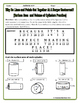 Surface Area and Volume - Cylinders Riddle Worksheet