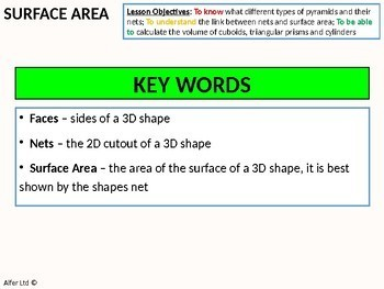 Surface Area 2 = Surface Area of Pyramids (+ resources)