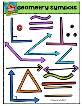Geometry Symbols {P4 Clips Trioriginals Digital Clip Art}