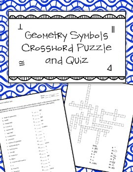 Geometry Symbols Quiz and Crosswords Puzzle