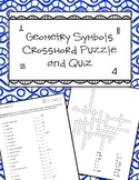 Geometry Symbols Quiz and Crosswords Puzzle