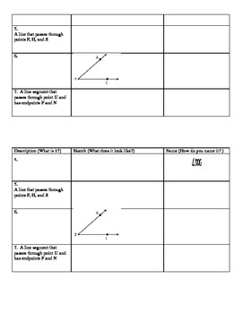 Geometry Symbols and Naming Practice