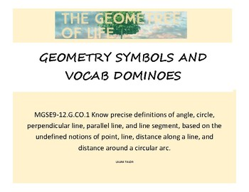 Geometry Symbols and Vocab Dominoes