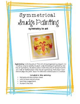 Geometry: Symmetrical Smudge Paintings