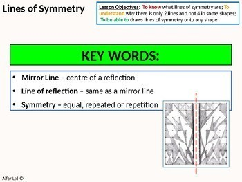 Geometry: Symmetry 1 - Lines of Symmetry (+ resources)
