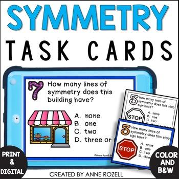 Geometry- Symmetry Task Cards