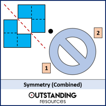 Geometry: Symmetry 3 - combined symmetry (lines and rotational) with resources