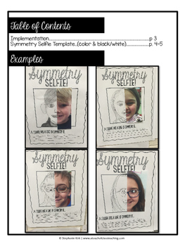 Geometry - Symmetry Selfies - Fun, Finish The Picture Activity