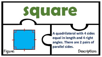 Geometry TEK 4.6C TEKS 4.6D  Polygons Triangles Quadrilaterals attributes math