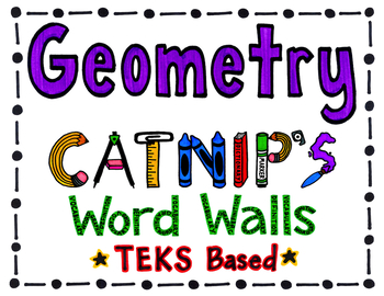 Geometry TEKS Based Word Wall