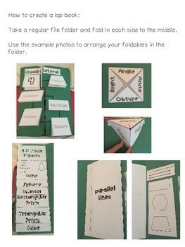Geometry TEKS Foldable Lap Book